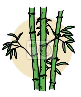 Bambus Cartoon Vektor Und Illustration Hand Gezeichnet Stil