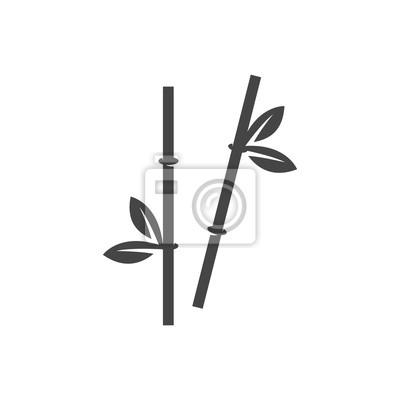 Bambus Stammt Symbol Vektor Logo Auf Weissem Hintergrund Fototapete
