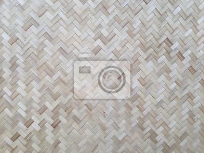Bambus Wand Hintergrund Tapete Muster Textur Stroh Weben Thai
