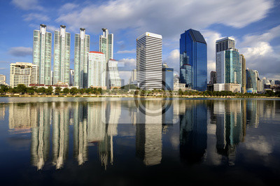 Bangkok Stadt und der Wasserpark