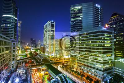 Bangkok Stadtnachtansicht