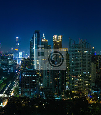 Bangkok Stadtnachtansicht, Thailand