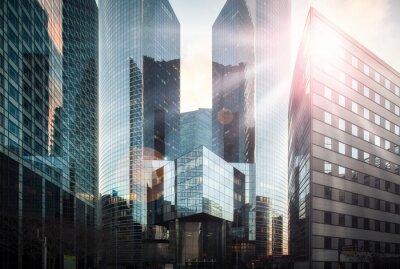 Fototapete Bankenviertel im Sonnenschein