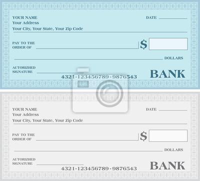 Bankscheck, bankscheck vektor fototapete • fototapeten Gutscheine ...