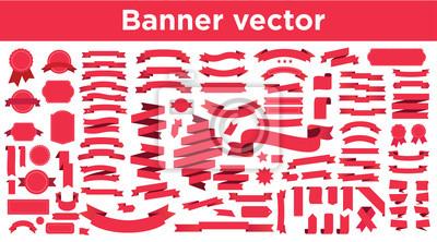 Fototapete Banner vector icon set