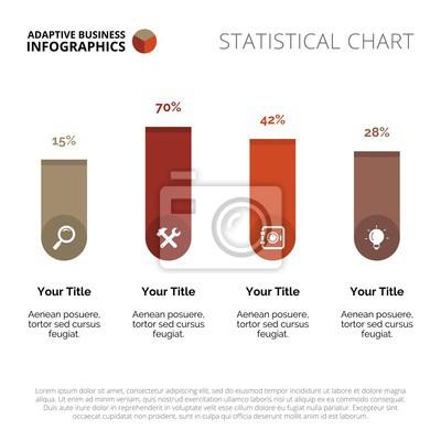 Bar chart vorlage fototapete • fototapeten Infografik, Mehrfarben ...