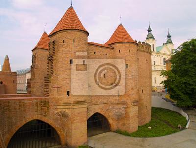 Fototapete Barbakan in Warschau, Polen