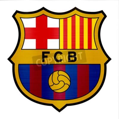 Fototapete Barcelona Metallic Logo Illustration