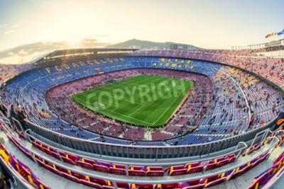 Fototapete BARCELONA, SPANIEN - 19. APRIL: Fußballstadion am 19. April 2017 in Barcelona