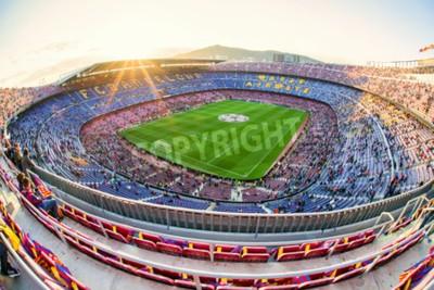 Fototapete BARCELONA, SPANIEN - 19. APRIL: Fußballstadion Nou Camp am 19. April 2017 in Barcelona