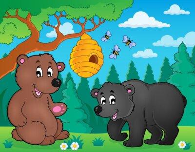 Fototapete Bären in der Natur Themabild 4