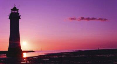 Fototapete Barsch, Leuchtturm, New Brighton, Wirral