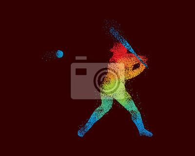 Baseball Art 4 Dunkel