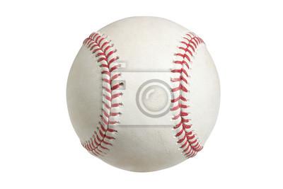 Baseball auf weiß mit Clipping-Pfad
