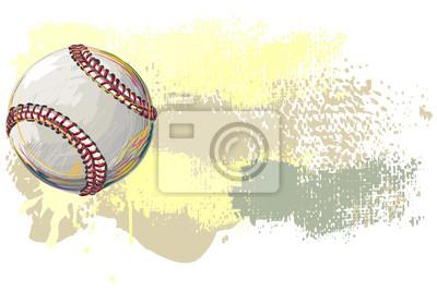 Baseball Banner. Alle Elemente sind in separaten Ebenen und gruppierte.