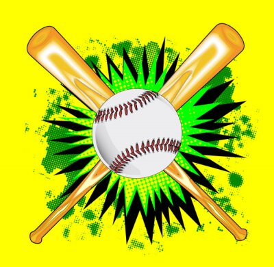 Baseball Bats And Ball Splash