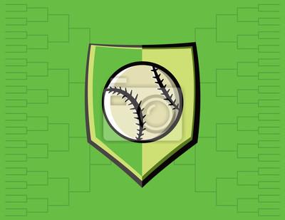 Baseball-Emblem und Turnier-Hintergrund