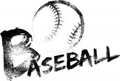Baseball Grunge Streifen