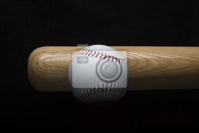 Baseball mit Baseballschläger