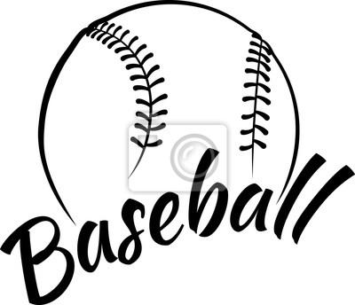 Baseball mit Spaßtext