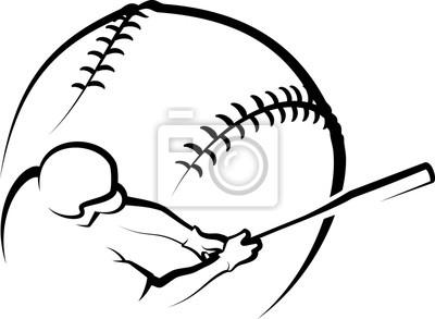 Baseball-Schwingen-Entwurf