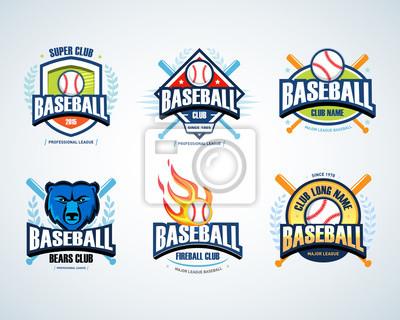Baseball sport badge logo set. design template and some elements ...