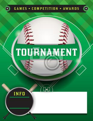 Baseball Turnier Vorlage Illustration