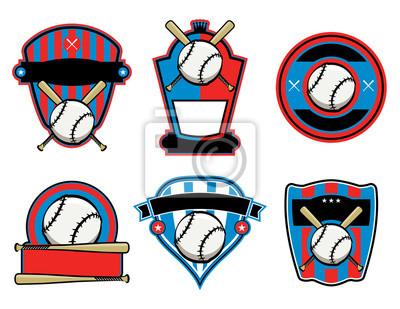 Baseball und Fledermaus-Embleme und Abzeichen