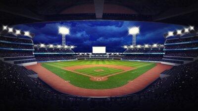 Fototapete Baseballstadion unter Dachansicht mit Ventilatoren