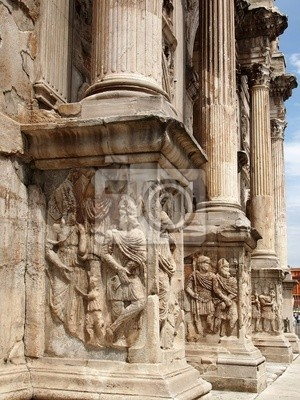 Basis Flachrelief und Spalten von Arch of Constantine