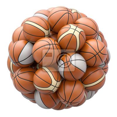 Basket Bälle isoliert auf weißem Hintergrund