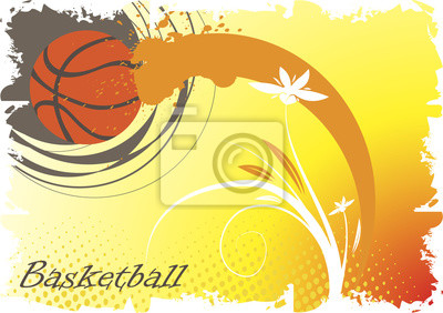 Basketball abstract flower