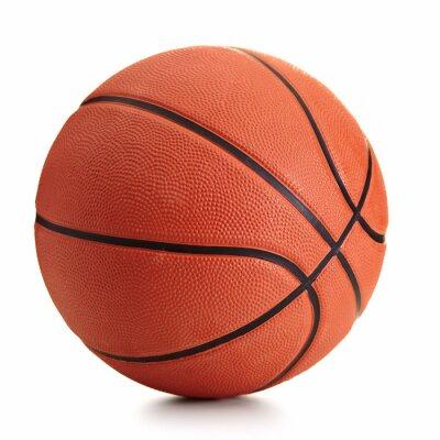 Fototapete Basketball Ball auf weißem Hintergrund