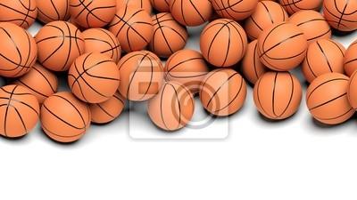 Basketball-Bälle auf weißem Hintergrund