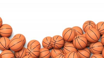 Fototapete Basketball-Bälle auf weißem Hintergrund