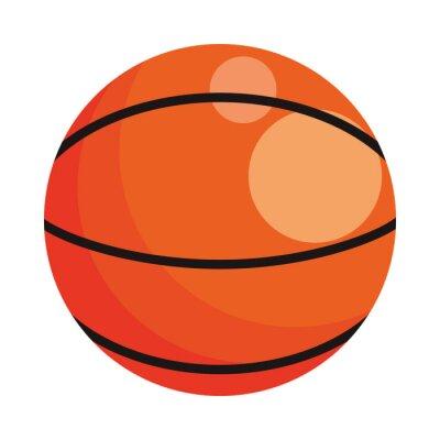 basketball balloon sport isolated icon