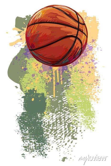 Fototapete Basketball Banner. Alle Elemente sind in separaten Ebenen und gruppierte.