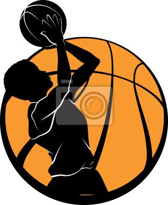 Basketball Boy Shooting im Ball