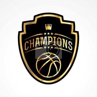 Basketball Champions Abzeichen Emblem Illustration