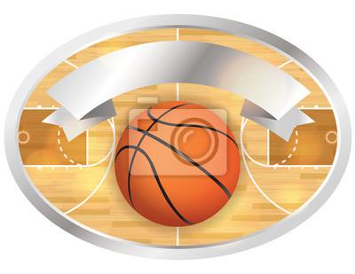 Basketball Court Abzeichen und Banner