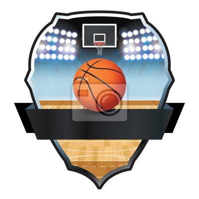 Basketball Emblem Badge Illustration