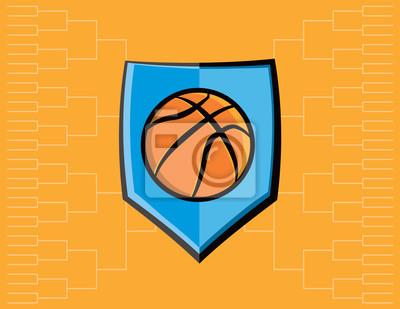 Basketball-Emblem und Turnier-Hintergrund