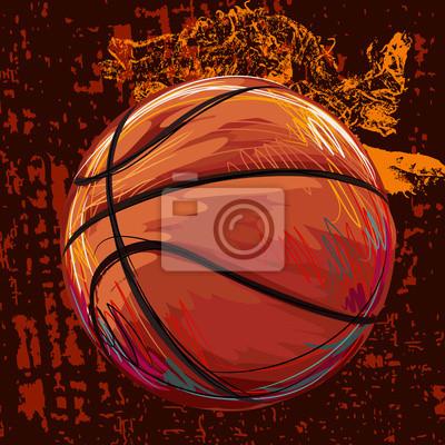 Basketball Erstellt durch Berufskünstler. Diese Darstellung wird von Wacom tabletby mit Grunge Texturen und Pinsel erstellt