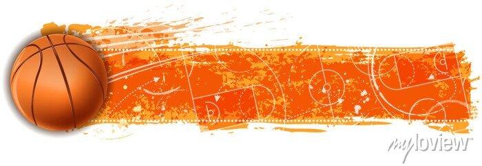 Fototapete Basketball-Feld leer Banner