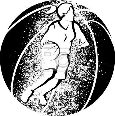Basketball-Frau, die zu Korb-Schmutz-Art fährt