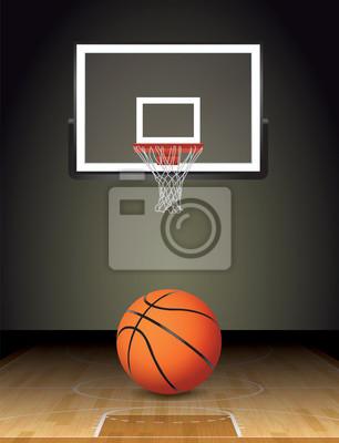 Basketball-Gericht Ball und Hoop Illustration