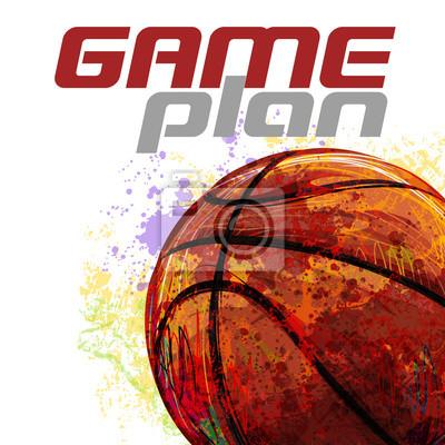 Basketball Gestaltet von professionellen Künstler. Diese Darstellung wird von Wacom-Tablett mit Hilfe Grunge Texturen und Pinsel erstellt