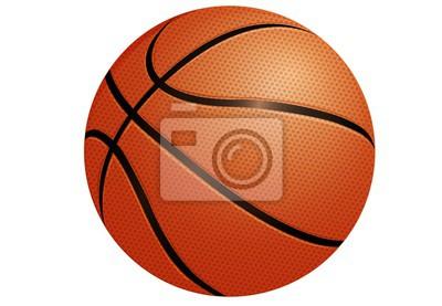 Fototapete basketball isolated on white background