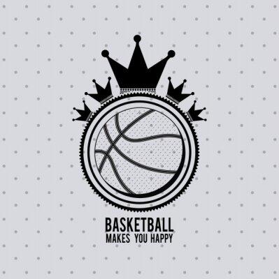 Fototapete Basketball-Liga-Design