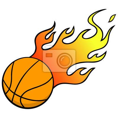 Basketball mit Flammen